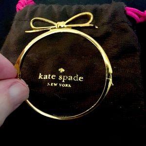 Kate Spade Rose Gold Love Bow Bangle Bracelet